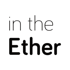 In the Ether black logo